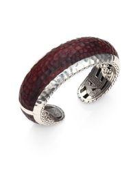 John Hardy | Red Palu Sterling Silver Rosewood Cuff Bracelet | Lyst