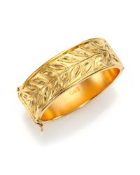 Giles & Brother | Metallic Laurel Cuff Bracelet | Lyst