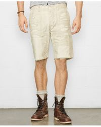 Denim & Supply Ralph Lauren - Natural Reverse Chino Twill Utility Shorts for Men - Lyst