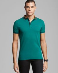 Burberry - Green London Adler Jersey Classic Polo for Men - Lyst