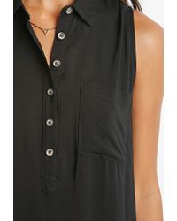 Forever 21 - Black Midi Shirt Dress You've Been Added To The Waitlist - Lyst