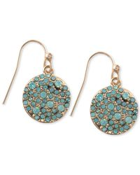RACHEL Rachel Roy | Metallic Gold-Tone Pave Crystal Disk Drop Earrings | Lyst