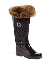 Santana Canada | Black 'clarissa' Waterproof Rain Boot | Lyst