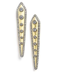 Freida Rothman | Metallic Linear Drop Earrings | Lyst