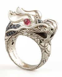 John Hardy | Metallic Dragon-head Ring | Lyst