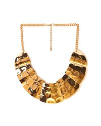 Forever 21 | Metallic Shining Armor Bib Necklace | Lyst