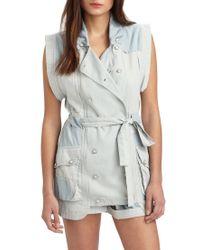 Shona Joy   Blue Go Your Own Way Convertible Vest   Lyst
