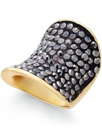 INC International Concepts | Black Gold-tone Hematite Stone Glam Ring | Lyst