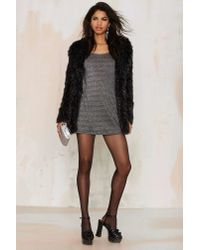 Nasty Gal | Gray After Party Vintage Silver Bullet Mini Dress | Lyst