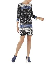 BCBGMAXAZRIA - Black Calico Printed Shift - Lyst