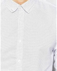 French Connection | White Shirt With Micro Dot for Men | Lyst