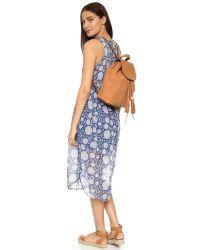Rebecca Minkoff - Brown Moto Backpack - Lyst