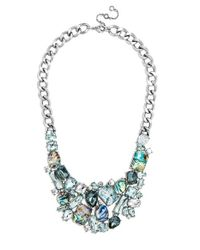 BaubleBar - Metallic 'crystal Abalone' Bib Necklace - Abalone/ Antique Silver - Lyst