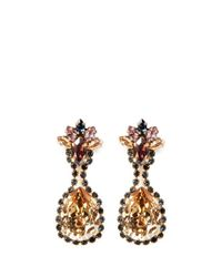 Erickson Beamon | Metallic Happily Ever After' Mix Crystal Drop Earrings | Lyst