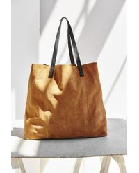 BDG | Brown Suede Pocket Tote Bag | Lyst