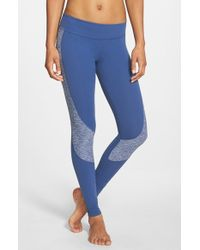 Beyond Yoga | Blue Curved Space Dye Panel Leggings | Lyst