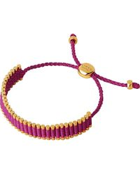 Links of London | Pink 18ct Gold-plated Friendship Bracelet - For Women | Lyst