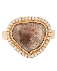 Brooke Gregson - Pink Rose Gold And White Diamond Ring - Lyst