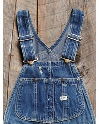 Free People - Blue Vintage Lee Overalls - Lyst