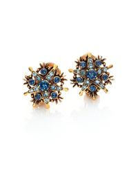 Oscar de la Renta | Metallic Crystal Stars Clip-on Earrings/goldtone | Lyst