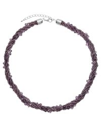 John Lewis - Purple Sparkle Twist Necklace - Lyst