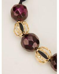 Marni - Metallic Beaded Necklace - Lyst