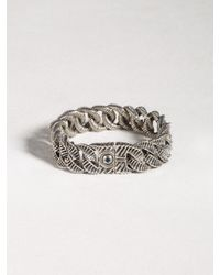 John Varvatos | Metallic Sterling Silver Snake Curb Link Bracelet for Men | Lyst