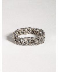 John Varvatos - Metallic Sterling Silver Snake Curb Link Bracelet for Men - Lyst