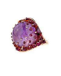 Fernando Jorge | Pink Ruby, Rhodolite & Rose-Gold Ring | Lyst