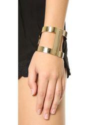 Michael Kors | Metallic Martime Statement Cuff Bracelet - Gold | Lyst