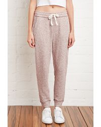 Forever 21 | Purple Marled French Terry Sweatpants | Lyst