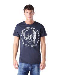 DIESEL | Blue T-isem Regular Fit Skull Graphic T Shirt for Men | Lyst