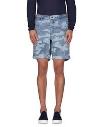 Hydrogen | Blue Denim Bermudas for Men | Lyst