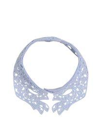 Vivetta | Blue Emma Cotton Macramé Lace Collar | Lyst