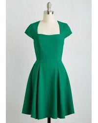 Ixia - Green Cornerstone Of Classy Dress - Lyst