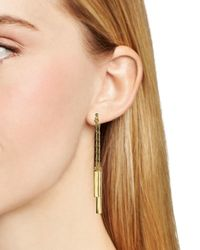Ralph Lauren - Metallic Lauren Bar Front Back Earrings - Lyst