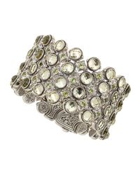 Konstantino - Metallic Lemon Citrine Peridot Fourrow Cuff Bracelet - Lyst