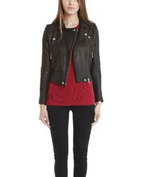 IRO - Black Ashville Leather Jacket - Lyst