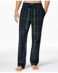 Polo Ralph Lauren - Blue Men's Woven Plaid Pajama Pants for Men - Lyst