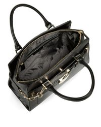 Calvin Klein | Black Leather Buckle Accented Satchel Bag | Lyst