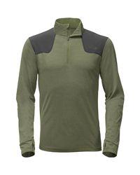 The North Face - Green Kilowatt 1/4-zip Shirt for Men - Lyst