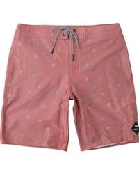 RVCA - Red Lost Vacancy Trunk for Men - Lyst