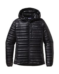 Patagonia - Black Ultralight Down Hooded Jacket - Lyst