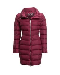 Add - Red White Goose Down Coat - Lyst