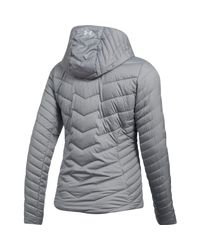 Under Armour Gray Coldgear Reactor Hooded Jacket
