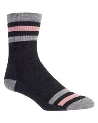 Smartwool - Blue Striped Hike Medium Crew Sock - Lyst