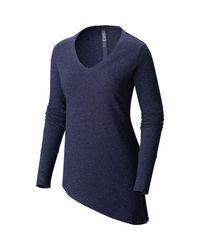Mountain Hardwear   Blue Shadow Knit Shirt   Lyst