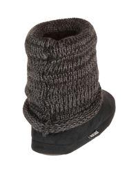 Muk Luks | Black Legwarmer Scrunch Bootie | Lyst