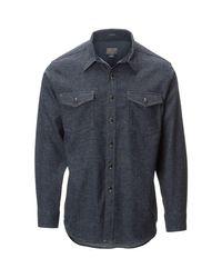 Pendleton - Blue Cascade Denim Fitted Shirt for Men - Lyst