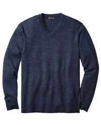Smartwool - Blue Kiva Ridge V-neck Sweater for Men - Lyst